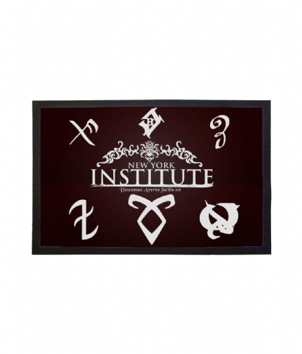 New York Institute Shadowhunters Mortal Instruments Runes Doormat Welcome Mat
